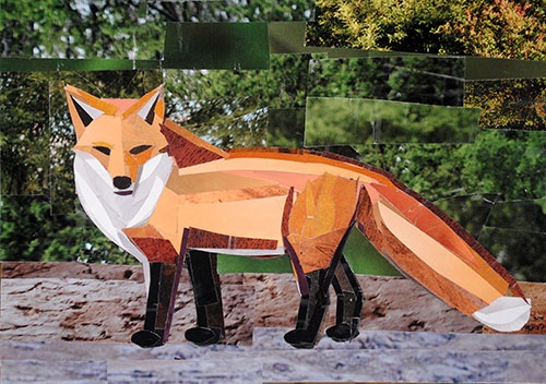 Red Fox by collage artist Megan Coyle