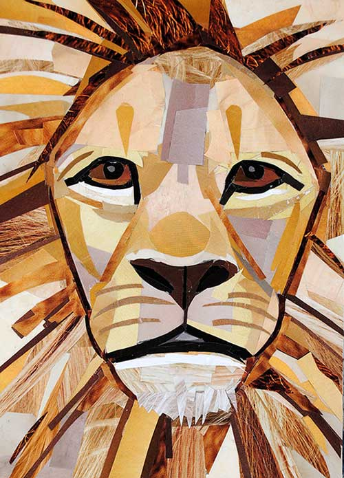 Sir Lion is a collage by Megan Coyle