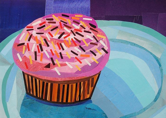 Sprinkles and Cupcakes Make Everything Better by collage artist Megan Coyle