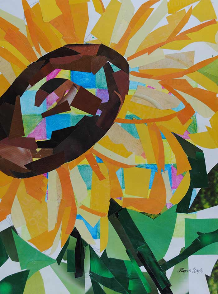 Sunflower by collage artist Megan Coyle