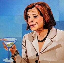 Lucille collage inspired by Arrested Development by Megan Coyle
