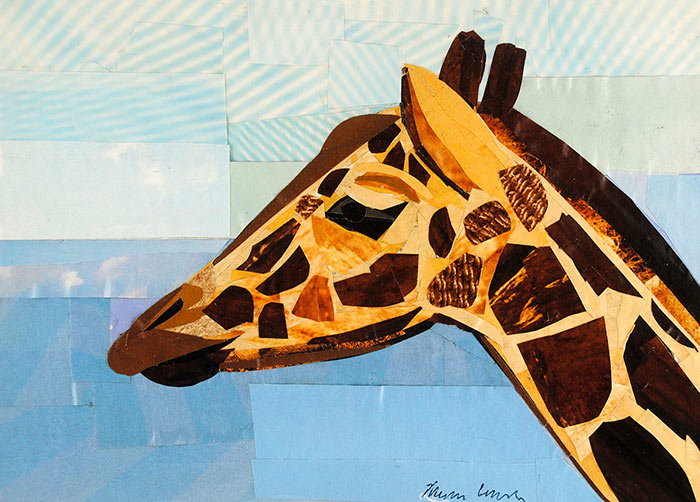The Proud Giraffe collage by Megan Coyle