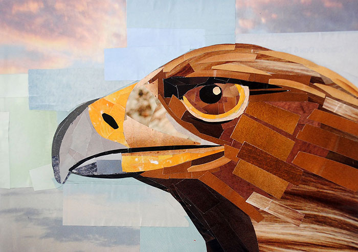 The Serious Grin of the Eagle by collage artist Megan Coyle