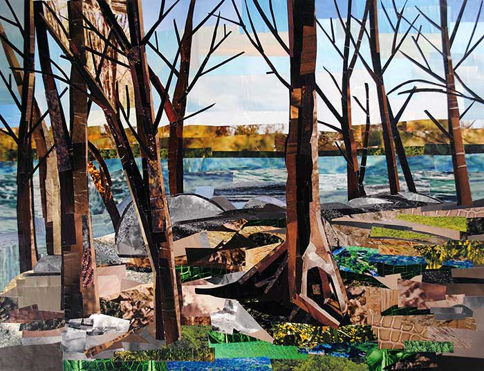 The Woods by collage artist Megan Coyle