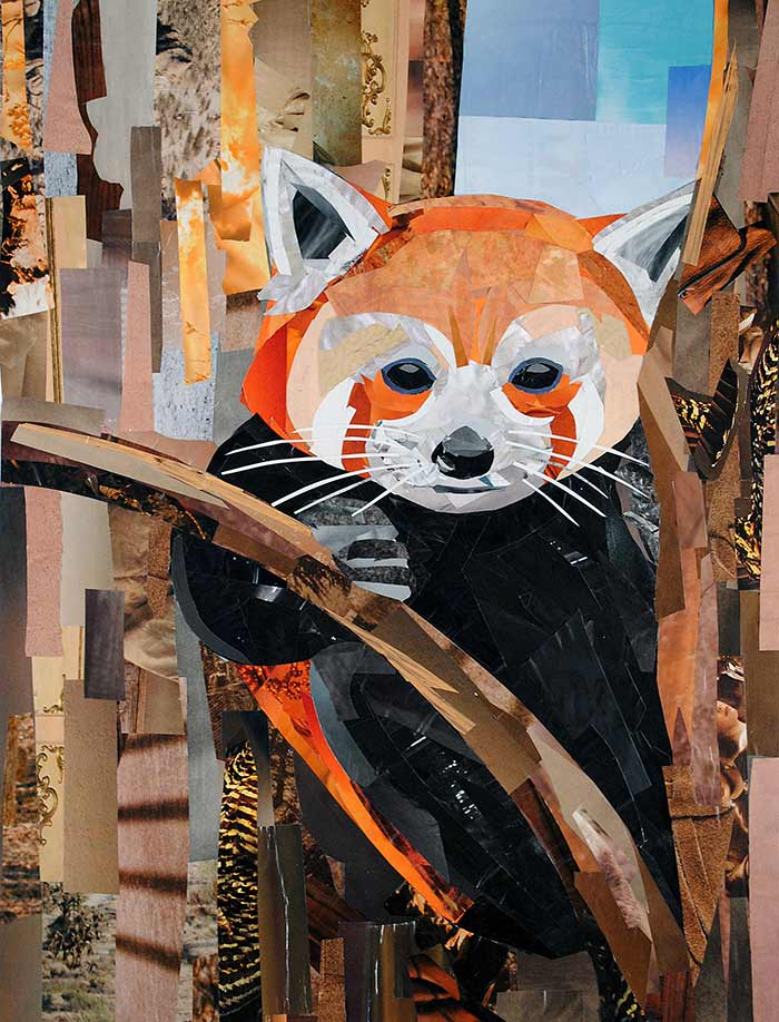 Tree Baby (Firefox) by collage artist Megan Coyle