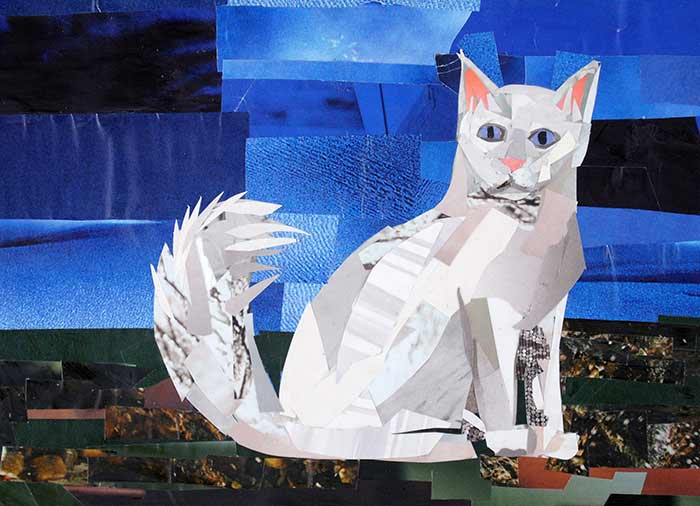 Turkish Angora by collage artist Megan Coyle