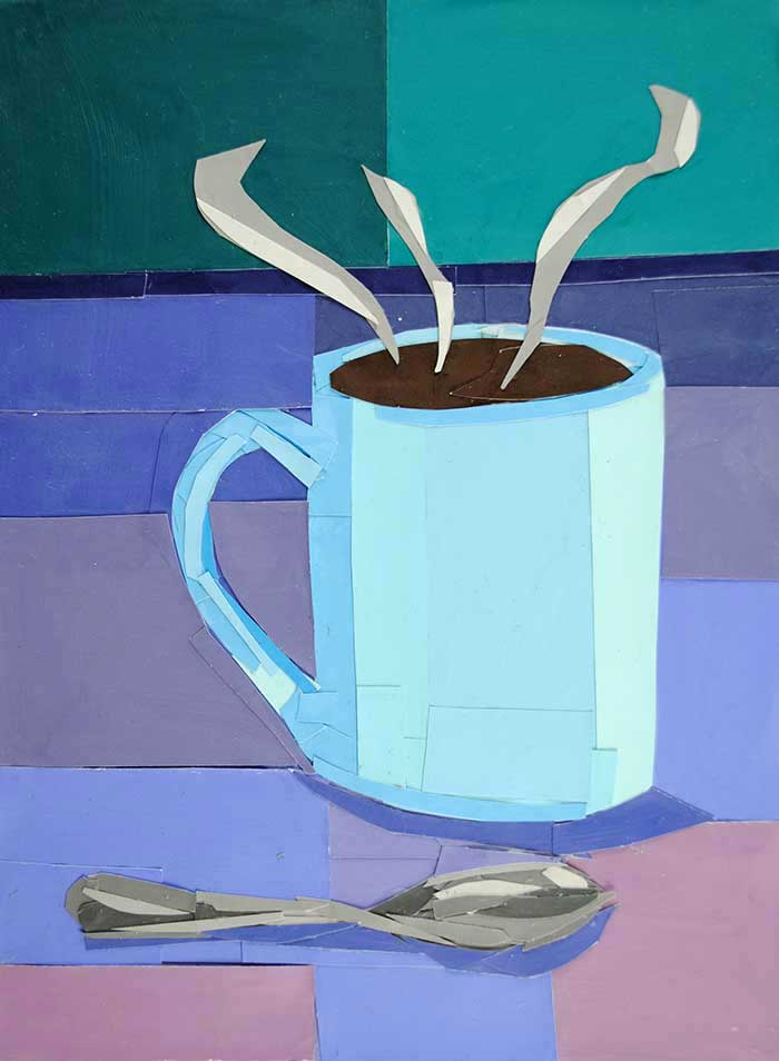 Winter Coffee by collage artist Megan Coyle