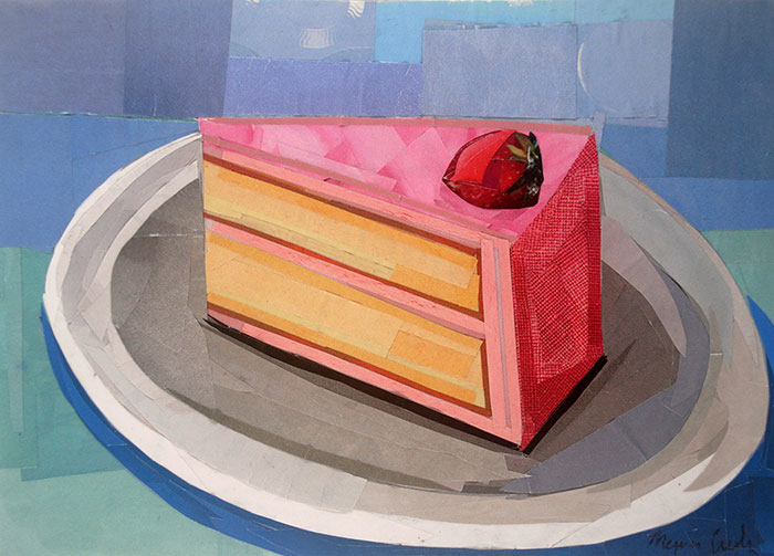You Can Have Your Cake by collage artist Megan Coyle