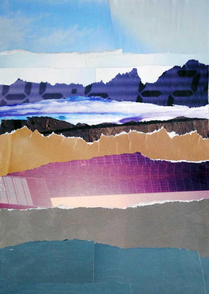 Landscape by collage artist Megan Coyle