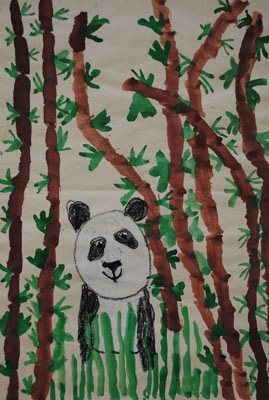 childhood-art-Panda-Painting