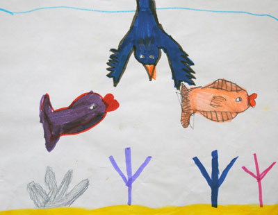 childhood-art-bird-and-fish