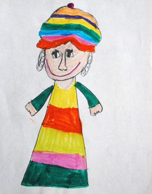 childhood-art-girl-with-hat
