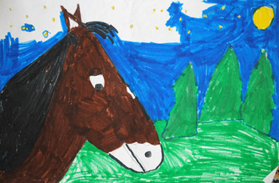 childhood-art-horse