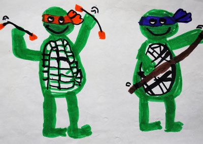 childhood-art-ninja-turtles