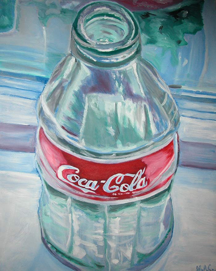 Coca Cola oil painting by Megan Coyle