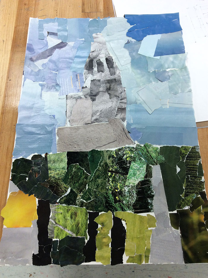 Student Collages inspired by Megan Coyle