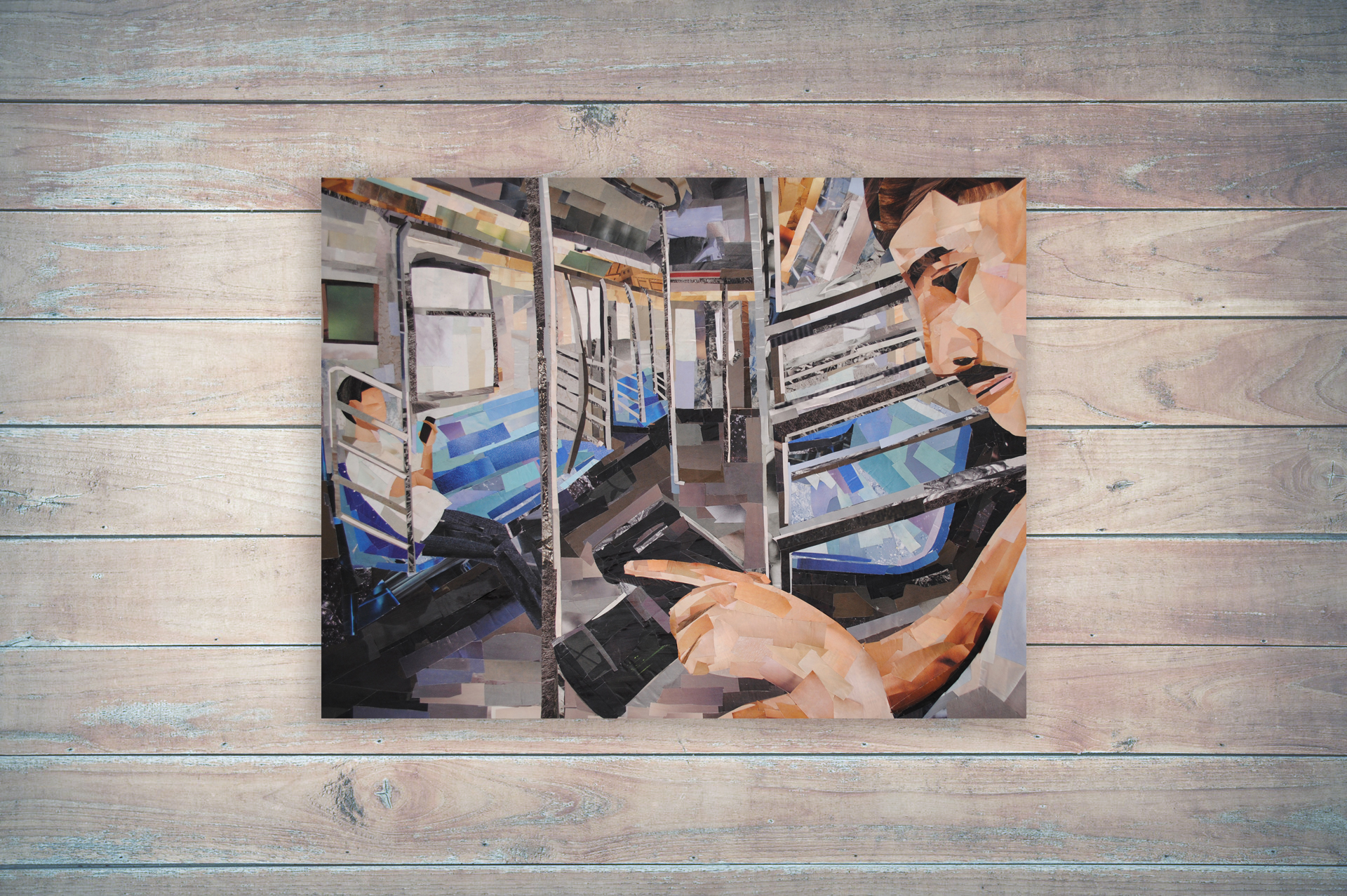 Commuters is a collage by Megan Coyle