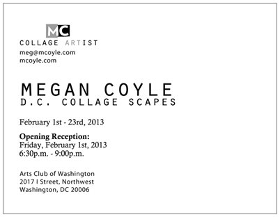 DC Collage Scapes by collage artist Megan Coyle