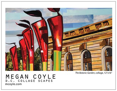 DC Collages Scapes by collage artist Megan Coyle