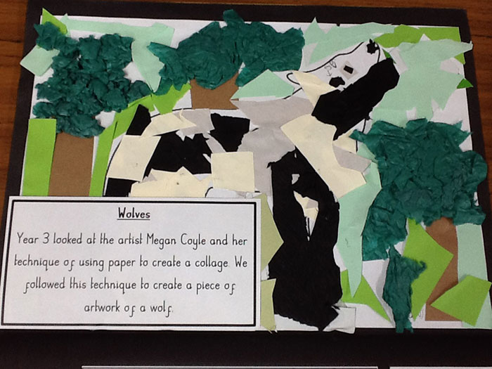 Collage from a student from England inspired by Megan Coyle's art