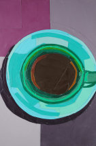 Green Coffee Cup from a Bird's-eye View