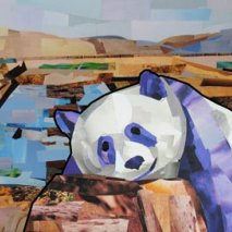 Panda Collage by Megan Coyle