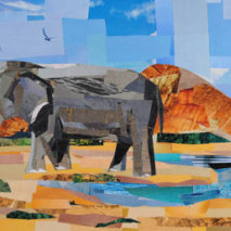 Elephant Collage by Megan Coyle
