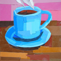Title: Blue Coffee Cup