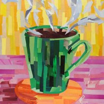 Title: Green Coffee Cup
