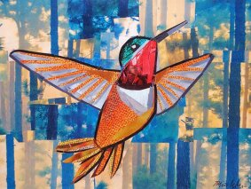 Hummingbird in the Woods
