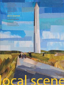 Washington Monument by collage artist Megan Coyle