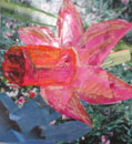 Pink Flower by collage artist Megan Coyle