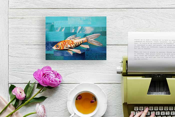 The Daydreaming Fish by collage artist Megan Coyle