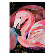 Flamingo by collage artist Megan Coyle