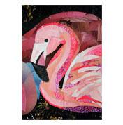 Flamingo by collage artist Megan Coyle