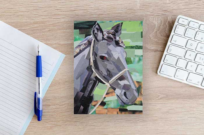Portrait of a Horse by collage artist Megan Coyle