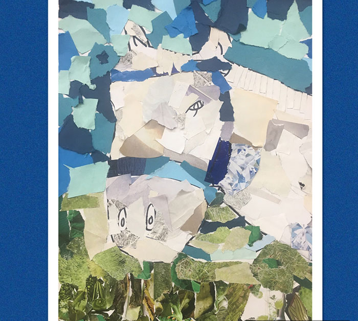 Coyle-inspired collage made by a student in Japan