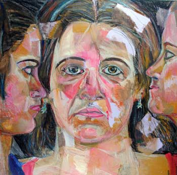 Three Faces by collage artist Megan Coyle