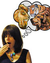 Collage Artist Megan Coyle Lions and Tigers and Bears