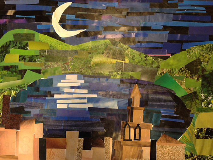 Coyle inspired collage made by a student from New Hampshire