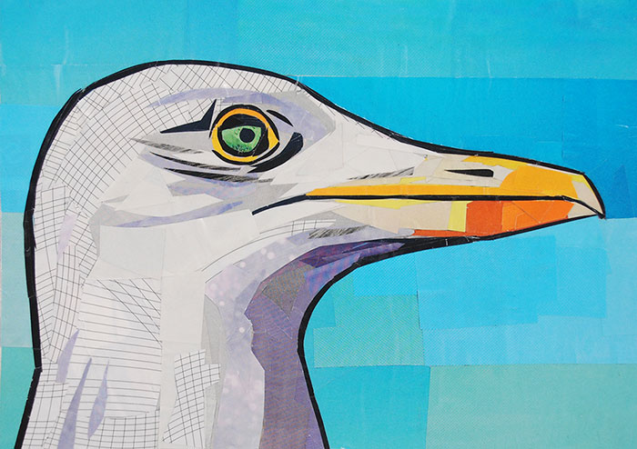 Oh Wise Seagull by collage artist Megan Coyle