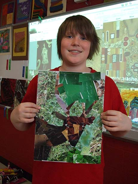 Ohio Student Work inspired by Megan Coyle's Collages