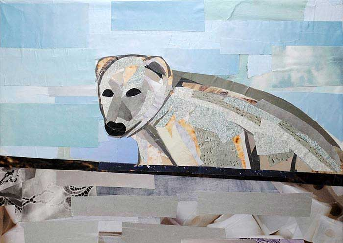 Polar Bear collage by Megan Coyle