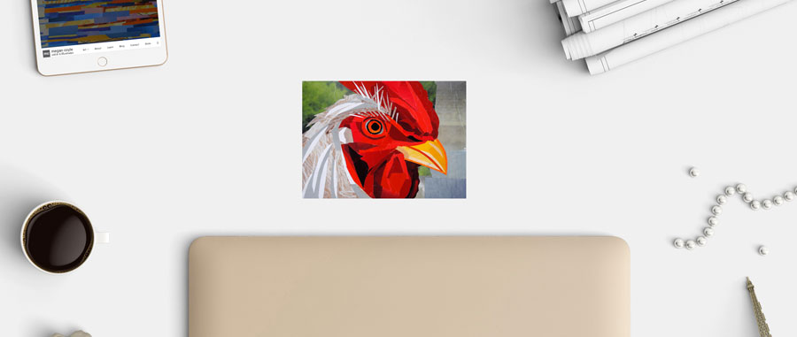 Rooster collage by Megan Coyle