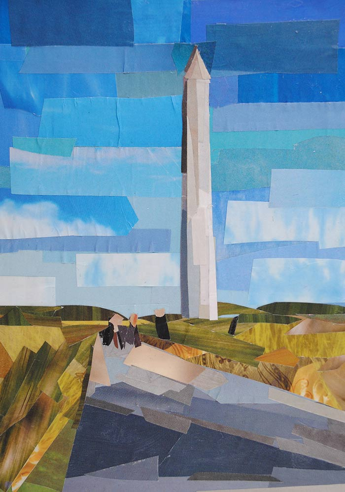 The Washington Monument by collage artist Megan Coyle