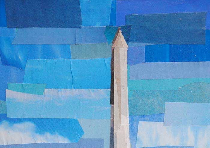 Washington Monument collage by Megan Coyle